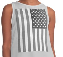 American Flag Verticle Contrast Tank