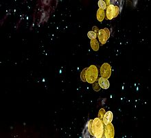 Stars and Roman Coins by KayeDreamsART