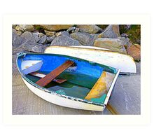Boats And Boulders Art Print