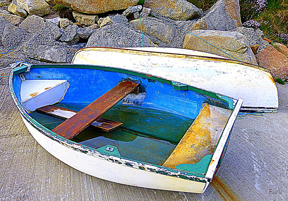 Boats And Boulders by Fara