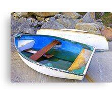 Boats And Boulders Metal Print