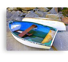 Boats And Boulders Canvas Print