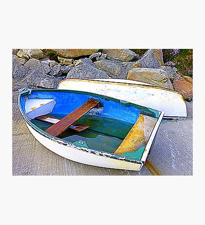 Boats And Boulders Photographic Print