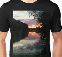 June Sunset over the Passaic River, Wayne NJ USA Unisex T-Shirt