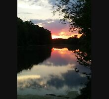 June Sunset over the Passaic River, Wayne NJ USA Unisex T-Shirt