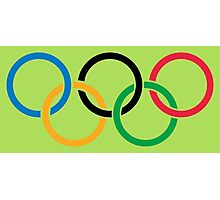olympic rings Photographic Print