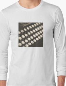 Vintage Typewriter Keys Long Sleeve T-Shirt