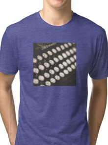 Vintage Typewriter Keys Tri-blend T-Shirt