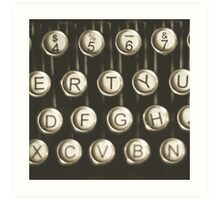 Vintage Typewriter Keys Art Print