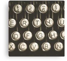 Vintage Typewriter Keys Canvas Print