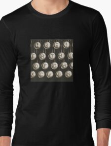 Vintage Typewriter Keys Long Sleeve T-Shirt