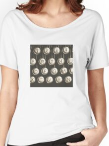 Vintage Typewriter Keys Women's Relaxed Fit T-Shirt