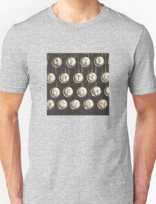 Vintage Typewriter Keys T-Shirt
