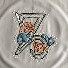 Celtic Rabbit Embroidery Letter Z by Donna Huntriss