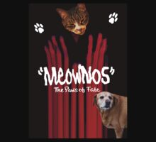 """Meownos"" The Paws of Fate Tee v.2 by Margaret Bryant"
