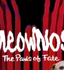 """Meownos"" The Paws of Fate Tee v.2 Sticker"