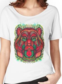Psychedelic bear Women's Relaxed Fit T-Shirt