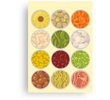Canned food Canvas Print
