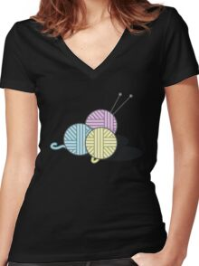Yarn Women's Fitted V-Neck T-Shirt