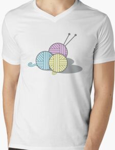 Yarn Mens V-Neck T-Shirt