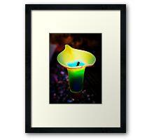 Abstract Calla Lily Framed Print