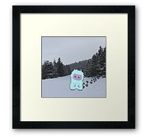 Y is for Yeti Framed Print