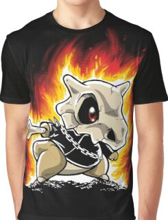 Cubone on fire Graphic T-Shirt
