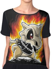Cubone on fire Chiffon Top