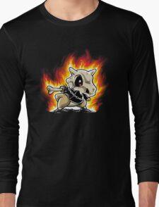 Cubone on fire Long Sleeve T-Shirt