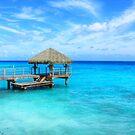 Paradisiac sea view in French Polynesia by WAMTEES