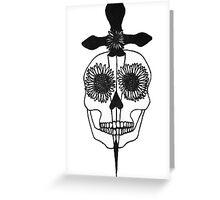Skull & Dagger Greeting Card