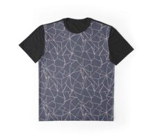 Web Blue and Pink Graphic T-Shirt