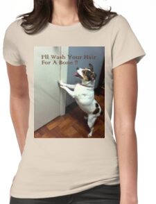 Funny Dog Womens Fitted T-Shirt