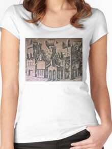 The Docks Above the City Women's Fitted Scoop T-Shirt