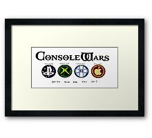 Gaming Console Wars. Framed Print