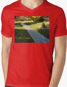 Longer Slide Mens V-Neck T-Shirt