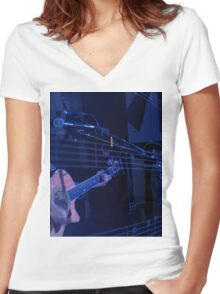 Music Mike Women's Fitted V-Neck T-Shirt