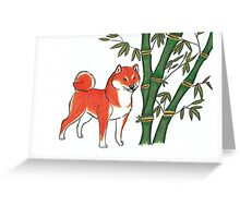 Fuyu Shiba Inu Greeting Card