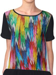 Paper Cranes for Peace Chiffon Top