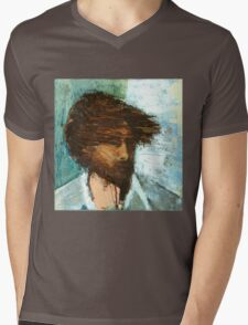 Thom Yorke of Radiohead Portrait / Painting Mens V-Neck T-Shirt