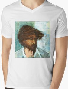 Thom Yorke of Radiohead Portrait / Painting Mens V-Neck T-Shirt
