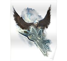Raptor Sky And Ice Poster