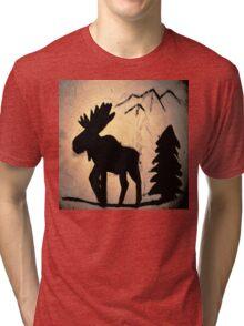 Moose Shadow Tri-blend T-Shirt