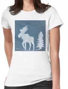 Snow Moose Womens Fitted T-Shirt