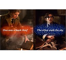 One was a book thief Photographic Print