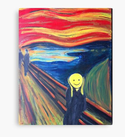 The Smile (The Scream, after Munch) Canvas Print
