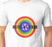 Rainbow Shield - United We Stand! Unisex T-Shirt