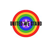 Rainbow Shield - United We Stand! Photographic Print
