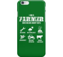 Many Hats of the Farmer iPhone Case/Skin