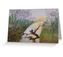 Distant Turn Greeting Card